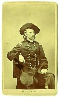Original CDV carte de visite of Major General George Armstrong Custer with 1865 George Custer, Battle Of Little Bighorn, George Armstrong, United States Military Academy, Union Army, Major General, Last Stand, War Image, Old West