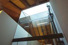 elevator shaft jura tangram design architecture   lausanne   fred hatt architecte   PORTFOLIO Lausanne, Architecture Design, Stairs, Home Decor, Elevator, Crystals, Wood Construction, Law School