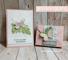 Stampin up watercolor wings butterfly thinlit botanical blooms butterfly team stamp