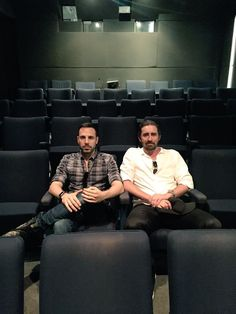 New picture of Joe Miale, director of Revolt, with Lee Pace! Screening Revolt??