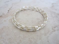 Simple holiday bracelet!  Or a bracelet to stack with others!!  See it now at studio 1227!