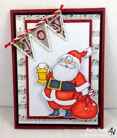 Ai Christmas Santa (SKU# T4171)  Art Impressions card