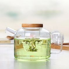 Dechunxian Glass Tea Pot + Tea Infuser Strainer #Glass, #Infuser, #Multifunctional, #Teapot