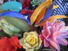 Deco clay flowers