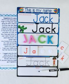 My Name Mat learn to write name spell name trace name preschool toddler prek educational toy Name Activities Preschool, Pre K Activities, Toddler Learning Activities, Preschool At Home, Preschool Lessons, Preschool Classroom, Preschool Education, Preschool Homework, Writing Activities For Preschoolers