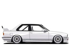 BMW E30 M3 BBS RE DTM wheels created by motiveartworks.com