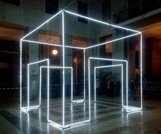 light art installation Find out why home decor is always essential! Discover more luxury lighting art instalation details at Theatre Design, Stage Design, Booth Design, Luxury Lighting, Neon Lighting, Lighting Design, Light Art Installation, Exhibition Stand Design, Exhibition Space