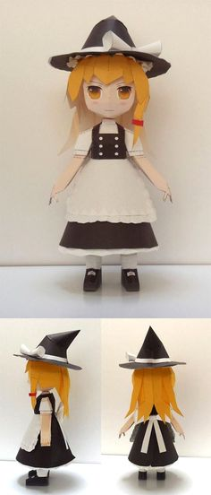 Paperized: Touhou Project : Marisa Kirisame Papercraft