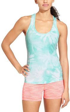 Pin for Later: Shed Layers While You Crush Workouts in These Gorgeous Active Tanks Athleta Sea Palm Chi Tank Athleta Sea Palm Chi Tank ($44)