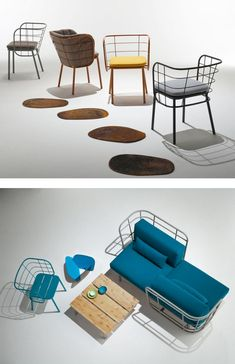 Metal easy #chair JUJUBE by CHAIRS MORE | #design 4P1B Design Studio @chairsandmore