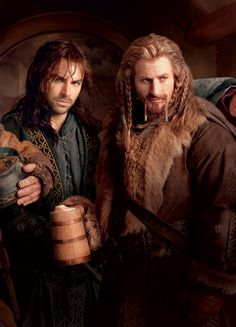Hot Dwarves. Who knew? But also, why is Kili the only one who looks to be wearing zero facial prosthesis?