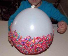 Pinchar el globo. Bol de confeti DIY