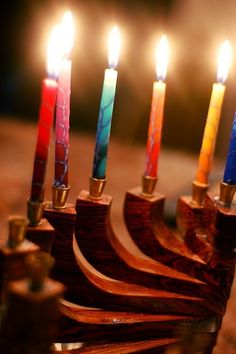 Beautiful Menorah and candles. #hanukkah #chanukkah #chanukah