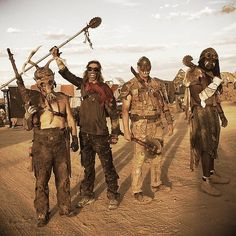 You can easily turn these ideas into group costumes — just embrace dirt, grease, and face paint to look like apocalypse survivors.