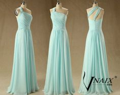 Sweetheart Strapless A Line Long Chiffon Wedding Party Dress Green Crystal Prom Dresse Formal Evening Dresses 2014 Bridesmaid Dress