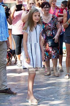 Infante Sofia, 6 aout 2017, Visite de l'exposition sur Miro au Musée Can Prunera, Palma de Mallorca (Espagne)