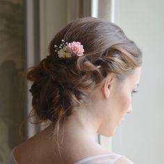 Haarschmuck & Kopfputz - Vintage Haarkamm in Rosa - ein Designerstück von Ohsopretty bei DaWanda