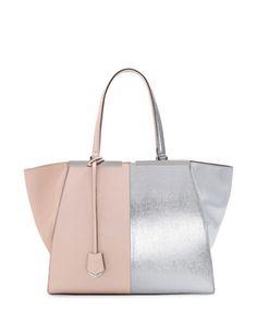 FENDI Trois-Jour Grande Leather Tote Bag