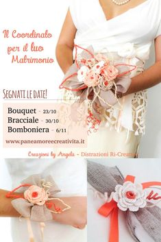 Matrimonio fai da te: bomboniera con la rosa all'uncinetto · Pane, Amore e Creatività Bouquet, Wedding Inspiration, Rose, Confetti, Pink, Roses, Bouquets, Pink Roses