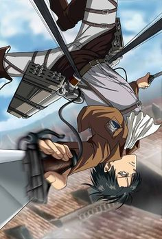 Shingeki no Kyojin - Levi and his spinning technique