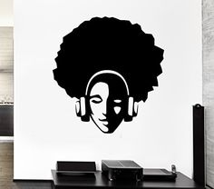 Wall Stickers Vinyl Decal Hippie With Afro In Headphones Music Decor (z1153i) Wallsticker4you http://www.amazon.com/dp/B00JL500VY/ref=cm_sw_r_pi_dp_o.xTub06168FB