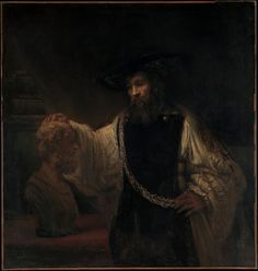 Rembrandt - Aristotle with a Bust of Homer, 1653, Metropolitan Museum of Art in New York