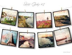 Set de huit Cartes Postales 14x14cm Série Groix