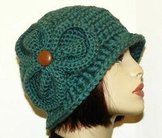 Free Crochet Bernadette Chunky FlapperCloche Pattern.