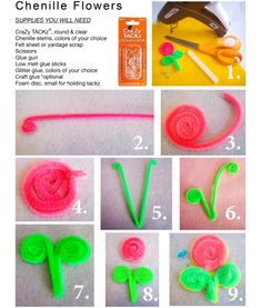 Create-It-Youself Chenille Flowers using CraZy TACKz! Download the full project guide: http://www.crazytackz.com/CIY-chenilleflowers