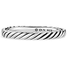 David Yurman Cable Classics Band Ring (€120) ❤ liked on Polyvore featuring jewelry, rings, silver, cable jewelry, david yurman rings, david yurman jewellery, wide band rings and david yurman jewelry