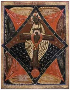 Христос распятый в лоне Отчем XVIIв.
