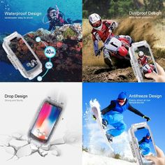 PULUZ Waterproof Shell Diving Underwater Cover Case For Samsung Galaxy oa Cool Tech Gadgets, Gadgets And Gizmos, Underwater Photos, Underwater Photography, Waterproof Iphone Case, Smartphone, Snorkelling, Drops Design, Samsung Galaxy S9