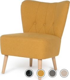 MADE Accent Chair, Retro Orange. Charley Armchairs Collection from MADE.