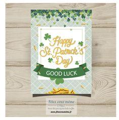 "Carte ""Good Luck"" St Patrick"