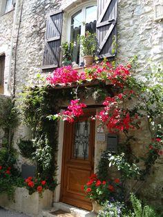 La Colle Sur Loup Coups, Four Square, Windows, Plants, Decks, Courtyards, Gardens, Old Stone, Romantic