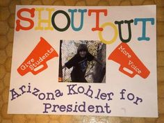 Serving on student council at your school allows you to participate in the student government process. As a student council member, you will play a role in . Slogans For Student Council, Student Council Campaign, Student Council Ideas, School Campaign Ideas, School Campaign Posters, Homecoming Queen, Homecoming Signs, Homecoming Ideas, Cheer Posters