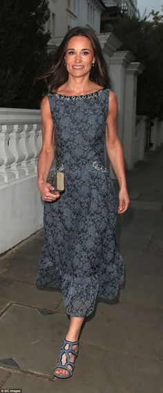 Pippa chose floral Erdem for one of her last public appearances as a single woman and the ...