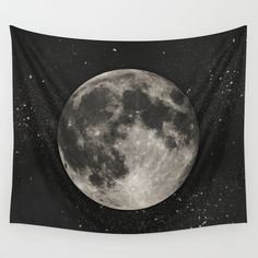 Buy The Moon  [Sans Type] by Heather Landis as a high quality Wall Tapestry. Worldwide shipping available at Society6.com. Just one of millions of products available.