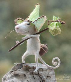 Holland dutch cute mousedolls & miniaturesneedle by TenderMouse