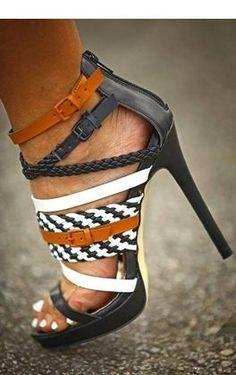 Women High Heel Sandals Sexy Print Orange Summer 8cm Stiletto Heel Gre/2-10 1/2at Stylish Sandal For The Summer! Sizes: 4 1/2-10 1/2