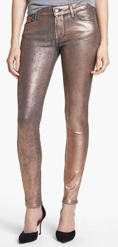 Perfois Rose Gold Skinny Jeans #MallyTrends