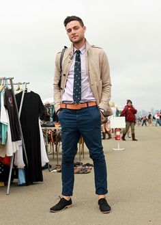 The Tie Guy — what to wear with navy chinos, ideally business...