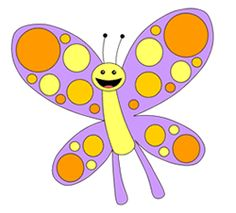 Cartoon drawing of a butterfly image