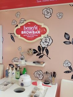 Taming Of the Brow -The Benefit Brow Bar Experience The Taming Of the Brow -The Benefit Brow Bar ExperienceThe Taming Of the Brow -The Benefit Brow Bar Experience Home Beauty Salon, Beauty Salon Design, Beauty Room, Beauty Bar, Benefit Brow Bar, Makeup Bar, Esthetician Room, Nail Room, Ideas
