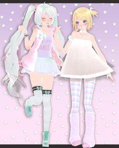 ~TDA Fairy Kei Miku and Rin [MMD] by NastyaSizaya