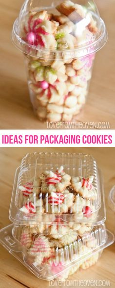 Ideas for packaging baked goods.  Cute and easy ideas to help get your Christmas cookies from point A to point B in one piece. Saving this one, I'll use it for sure!