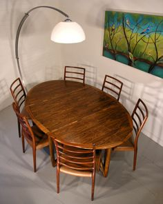 Kurt Ostervig rosewood table with Moller chairs