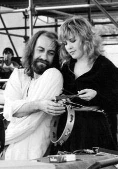 Mick Fleetwood and Stevie Nicks perform at Rock N' Run benefit at UCLA  on April 1st, 1983.   Read more: http://www.rollingstone.com/music/pictures/stevie-nicks-life-in-photos-20140526#ixzz39cm1rLrS Follow us: @rollingstone on Twitter | RollingStone on Facebook