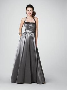 Alfred Angelo Bridesmaids - Love the metallic silver color! Available at Catan Fashions, the country's largest destination salon. Located in Strongsville, OH www.catanfashions.com