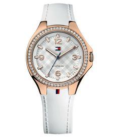 Dámske hodinky Tommy Hilfiger s bielym  kaučukový remienkom. Vianočné doručenie objednávok do 19.12. http://www.1010.sk/p/hodinky-tommy-hilfiger-th1781374/
